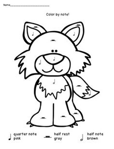 peter and the wolf listening response sheets with short audio ... - Peter Wolf Coloring Pages