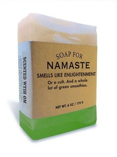 $10.95 - Soap for Namaste 170g / 6oz - Smells Like Enlightenment. Or a cult. And a whole lot of green smoothies.
