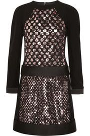 Victoria, Victoria BeckhamSequin-embellished crepe dress