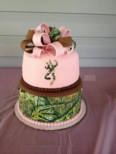 Pink camo browning cake. love the colors and the design!!!!