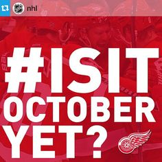 #Repost from @nhl --- Head over to NHL.com to see the Detroit Red Wings' '30-in-30' day today. #RedWings #IsItOctoberYet?