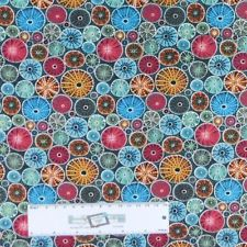 Patchwork Quilting Sewing Fabric Blue Aboriginal MALKAMALKA SPOT 50x55cm FQ New