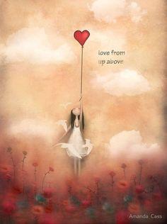 Art Amour, Art Fantaisiste, Heart Balloons, Angel Art, Heart Art, Whimsical Art, Love Art, Art Boards, Fantasy Art