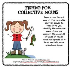 Free!! Fishing for collective nouns! Great game from pitnerspotourri!