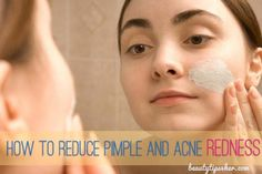 How to Reduce Pimple and Acne Redness Using Aspirin Mask | Beauty and MakeUp Tips