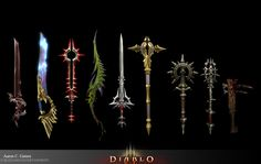 Diablo 3 Weapons by Goons - Aaron Gaines - CGHUB via PinCG.com