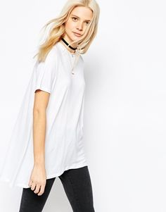 ASOS Top With Dip Back In Swing Shape