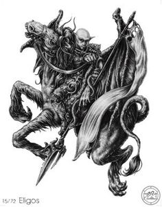 (15) ELIGOS (Goetic demon) influences those  born 03/04 - 15/06 - 27/08 - 08/11 - 20/01. The Fifteenth Spirit in Order is Eligos, a Great Duke, and appeareth in the form of a goodly Knight, carrying a Lance, an Ensign, and a Serpent. He discovereth hidden things, and knoweth things to come; and of Wars, and how the Soldiers will or shall meet. He causeth the Love of Lords and Great Persons. He governeth 60 Legions of Spirits.