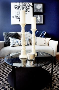 Grey Rooms Pinterest Navy Blue Wall Is A Perfect Way To Bring Color And Drama Living Roomblue