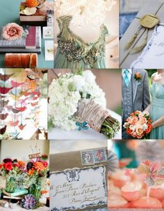 think i found my color scheme! teal, coral, cream, and gray