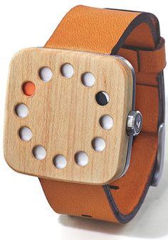 Grovemade Square Maple Wood Watch