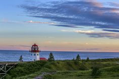 ***Grande-Rivière Lighthouse after sunset (Gaspé Peninsula, Quebec) by Danny VB