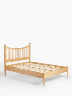 Buy John Lewis & Partners Essence Bed Frame, Oak, Super King Size from our Beds range at John Lewis & Partners. Free Delivery on orders over Super King Size Bed, King Size Bed Frame, Natural Furniture, Types Of Beds, Bed Sizes, Contemporary Interior, Home Collections, Solid Oak, Timeless Design