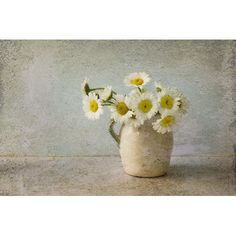 White Daisy Photograph, Still Life of a Jug of Daisies,  Floral Art Print,  Flower  Wall Decor on Etsy, 19,35€
