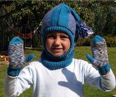 Dětská kukla a rukavice | PLETENÍ – NÁVODY