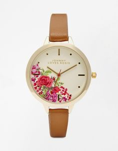 Johnny Loves Rosie Floral Dial Watch