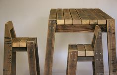 2x3 table and stools