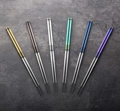 TiStix Titanium Chopsticks precision made and hand finished in small batches, brought to you by Eatingtools.
