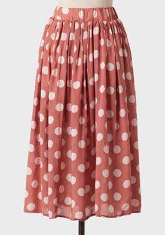 "32""-I WANT.  Salzburg Polka Dot Midi Skirt | Modern Vintage New Arrivals"