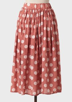 Salzburg Polka Dot Midi Skirt | Modern Vintage Affordable Lengths
