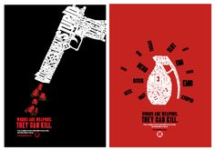 Awareness Campaign Posters by Black Ink. A poster on anti-bullying with words used both contextually and visual.