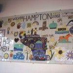 Newhampton mosaic - now in the Studio Block downstairs corridor