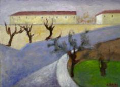 Ottone Rosai - Paesaggio 1950