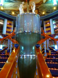 Another beautiful staircase on the Carnival Miracle