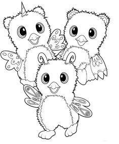 Print Hatchimals happy newyear 2017 hatchy coloring pages ...