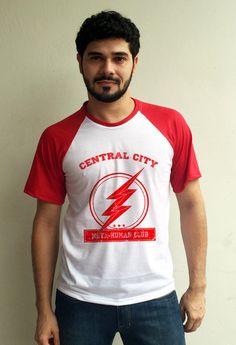 Camiseta Raglan Central City - The Flash