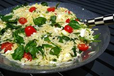 Orzo Summer Salad - might try this switching out the pasta for quinoa!