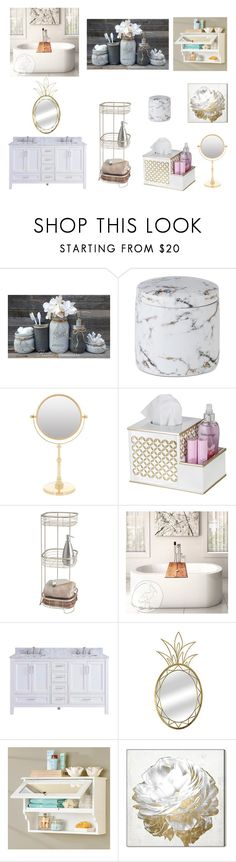 """Bathroom"" by xgalaxyunicornx on Polyvore featuring interior, interiors, interior design, home, home decor, interior decorating, JLA Home, Zodiac, InterDesign and Improvements"