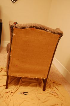 How to reupholster a wingback chair | DIY Project-aholic