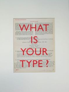 What is your type
