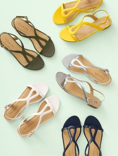 Sandals Outfit, Cute Sandals, Shoes Sandals, Buy Shoes, Me Too Shoes, Beautiful Sandals, Leather Sandals Flat, Balenciaga Shoes, Slingback Sandal
