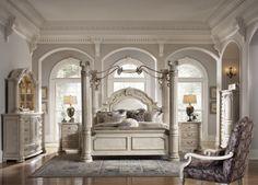 Monte Carlo II King Canopy Bedroom Set   AICO   Home Gallery Stores