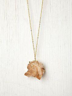 Rose Quartz Pendant. http://www.freepeople.com/whats-new/rose-quartz-pendant-26722405/