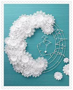 Risultati immagini per decorazioni natalizie con centrini di carta