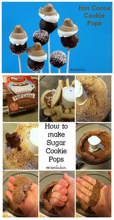 Cookies pops are fun and easy to make. No baking a cake involved.
