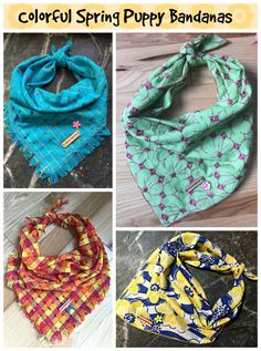 Spring Inspired bandanas for the pups we love