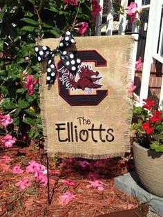Carolina gamecocks garden flag by TinyToesMonoDClothes on Etsy
