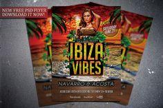 Free Ibiza Vibes flyer template. Download it for free here:  http://flipngecko.deviantart.com/art/Free-Ibiza-Vibes-Flyer-Template-456952936