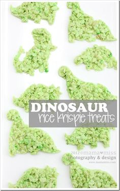edible fun: dinosaur rice krispie treats « mama♥miss