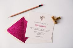 Gold Foil Bachelorette Party Invitation   by lolalouiepaperie