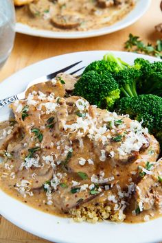 Chicken and Mushroom Skillet in a Creamy Asiago and Mustard Sauce