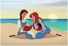 These two would be perfect best friends! And it's funny, because my sister's favorite princess is Ariel and mine's Belle, and we're both a lot like our favorite! I just love this.