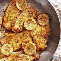 Lemon Butter Chicken Breasts You can always count on boneless, skinless chicken breasts to get great 30-minute meals on the table. In this easy recipe, the quick-cooking meat gets extra zest from lemon-pepper seasoning.
