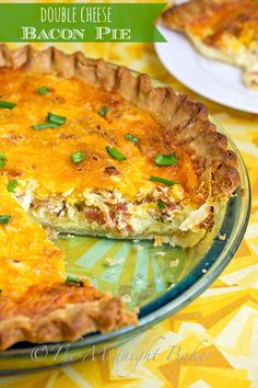 Double Cheese Bacon Pie | bakeatmidnite.com | #meatpies #bacon #cheese #baconpie #quiche