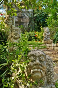 a Asian stone statues in the garden | Flickr - Photo Sharing!