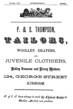 1871. Altrincham advert